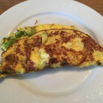 Cheese and Avocado Omellete