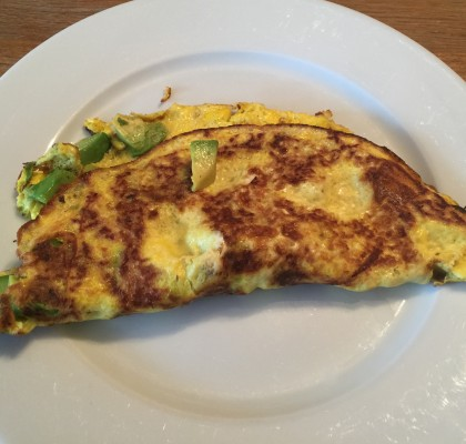 Low Carb Cheese And Avocado Omelette