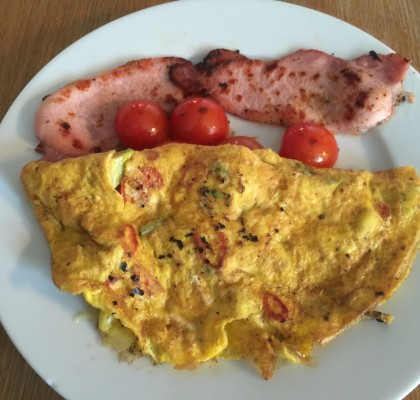 Mexican Omelette And Bacon