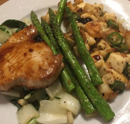 Low Carb Tuna Steaks Close Up
